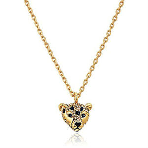 Kate Spade Run Wild Cheetah Mini Pendant Necklace